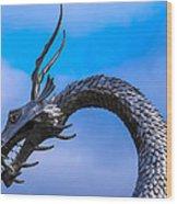 Welsh Dragon Head Wood Print