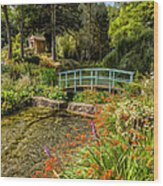 Welsh Garden Wood Print