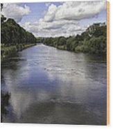 Welsh River Scene Wood Print