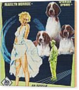 Welsh Springer Spaniel Art Canvas Print - The Seven Year Itch Movie Poster Wood Print