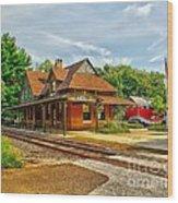 Wenonah Train Station Wood Print
