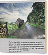 Wensleydale Road Wood Print by Mike Hoyle