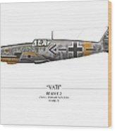 Werner Molders Messerschmitt Bf-109 - White Background Wood Print