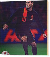 Wesley Sneijder  Wood Print by Paul Meijering