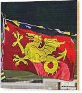 Wessex Wyvern Flag Wood Print