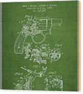 Wesson Hobbs Revolver Patent Drawing From 1899 - Green Wood Print
