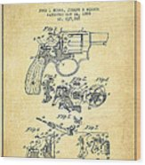 Wesson Hobbs Revolver Patent Drawing From 1899 - Vintage Wood Print