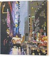 West 42nd Street Wood Print