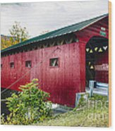 West Arlington Covered Bridge Wood Print