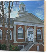 West Avenue Library Wood Print