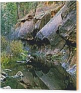 West Branch Oak Creek Wood Print