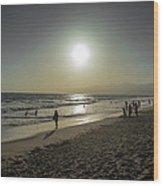 West Coast Sunset Wood Print