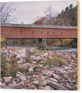 West Cornwall Covered Bridge Wood Print