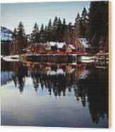 West End Of Donner Lake Wood Print