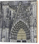 West Entrance Door Cologne Cathedral Wood Print