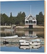 West Falmouth Boat House Wood Print