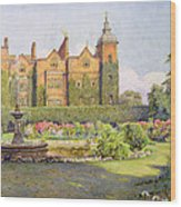 West Front And Gardens Of Hatfield Wood Print