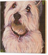 West Highland Terrier Reporting For Duty Wood Print by Susan A Becker