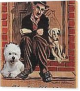 West Highland White Terrier Art Canvas Print - A Dogs Life Movie Poster Wood Print