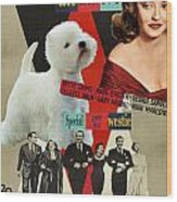 West Highland White Terrier Art Canvas Print - All About Eve Movie Poster Wood Print