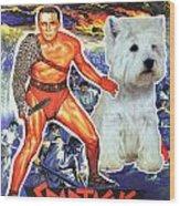 West Highland White Terrier Art Canvas Print - Spartacus Movie Poster Wood Print