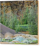 West Maui Volcanic Lava Cliffs Wood Print
