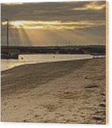 West Mersea Beach Wood Print