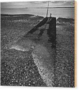 West Mersea Sea View Wood Print