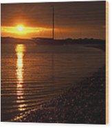 West Mersea Sunset Wood Print