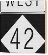 West Nc 42 Wood Print