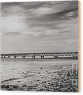 West Of Mackinac Bridge Wood Print