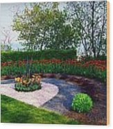 West Of The Lake Gardens Manitowoc Wi Wood Print