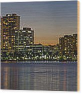 West Palm Beach At Twilight Wood Print