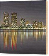 West Palm Beach Skyline Wood Print