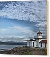 West Point Lighthouse II Wood Print