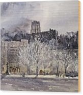West Point Winter Wood Print by Sandra Strohschein