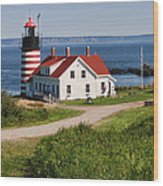 West Quaddy Lighthouse Wood Print