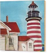 West Quoddy Light House Wood Print