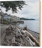 West Seattle Front Yard Wood Print