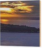 West Seattle Soaring Sunset Wood Print