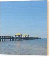 West Side Pier Gulfport Mississippi Wood Print
