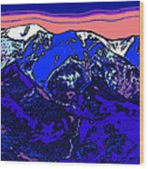 West Spanish Peak- Colorado Wood Print