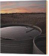 West Texas Plains Sunset Wood Print by Melany Sarafis