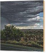 West Texas Storm Wood Print