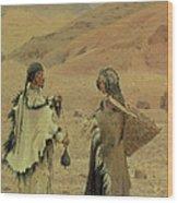 West Tibetans, 1875 Oil On Canvas Wood Print