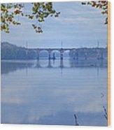 West Trenton Railroad Bridge Wood Print by Bill Cannon