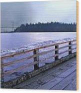 West Vancouver Dundarave Pier Left Wood Print