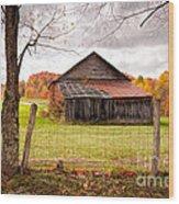 West Virginia Barn In Fall Wood Print