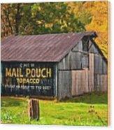 West Virginia Barn Oil Wood Print