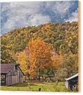 West Virginia Barns  Wood Print